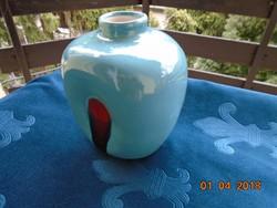 Modern jelzett kerámia váza