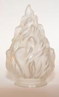 Lámpa bura fáklya forma fehér nem repedt régi garnitúra is