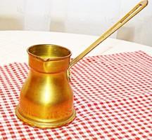 Török, régi sárgaréz kávékiöntő