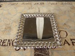 Retro hólyagos kis tálca, Retro fém tálca 17 cm Főév fém tálca