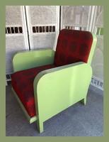 Kozma jellegű,teli fa art eco fotel,garnitúra része