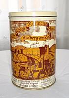 A stolberg-i vár 1680-as látképével díszített kekszes doboz