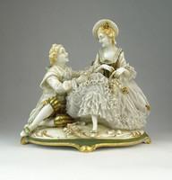 0Q338 Antik jelzett német porcelán szobor pár