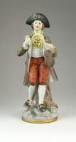0Q476 Jelzett porcelán rokokó férfi figura 20.5 cm