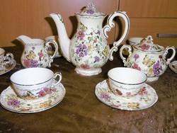 Zsolnay Pillangós Kávés készlet Hibátlan