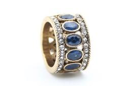 Sötétkék köves antik stílusú gyűrű 8-as ÚJ!