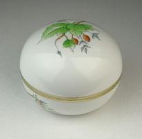 0Q578 Régi hecsedlis Herendi porcelán bonbonier