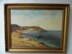 Zórád Géza (tengeres) festménye.