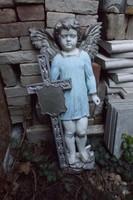 Antik 130 éves Öntöttvas Angyal vas kereszt tel feszület  90cm 48 Kg.Ritka