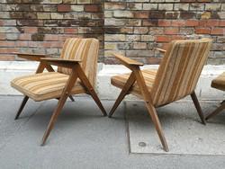 Skandináv jellegű design kis koktél fotelek 4db