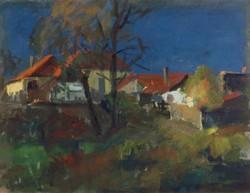 """Mészáros Lajos : """"Őszi táj"""" 1964"""