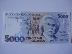 Brazilia 5000 cruzeiros