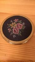 Gobelines rózsás kompakt púder doboz pudrié