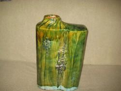Zsolnay  pirogranit  padló váza