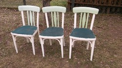 Nagyon bájos antik stabil, jelzett THONET  szék felújításra  - 3 db -4200 ft/db áron