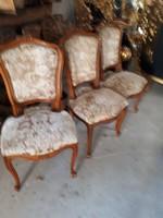 3 darab barok stilusú  szék
