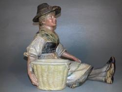 Osztrák Szecessziós - Art Nouveau kerámia figura BERNARD BLOCH  1910 antik
