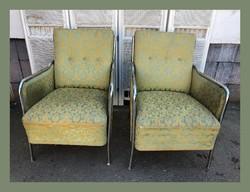 Retro,csővázas,króm keretes fotel