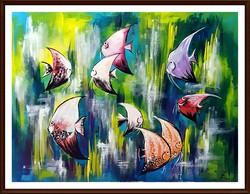 Czinóber - ússzatok halacskák! ( 40 x 30 )
