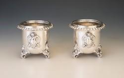 Ezüst borosüvegtartó pár