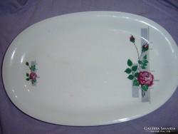Csodaszép régi vadrózsás pecsenyés tányér