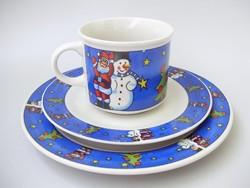 Hóemberes,karácsonyi gyerek reggeliző készlet