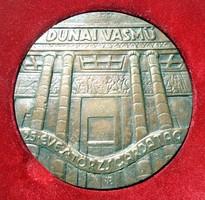 Dunai vasmű 25 éves törzsgárda tag plakett