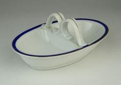 0Q970 Régi Zsolnay porcelán asztali sótartó