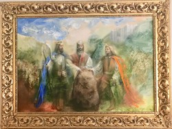Három Király olajfestmény