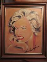 Merilyn Monroe portréja - olaj festmény