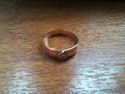 Brill köves aranygyűrű