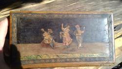 Antik Olasz Ékszertartó Doboz Titkos Rekesszel