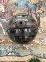 1898-as gömb kulacs, igazi ritkaság, 28 cm átmérőjű. Érdekes keresztel.
