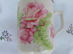 Antik Zsolnay rózsás bögre