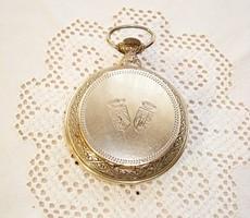 Ezüst, óratok alakú szelence