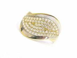 Mikrofoglalt arany gyűrű(Kecs-Au67405)