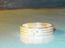 Vésett mint. uniszex 925 ezüst - ródium b. Karikagyűrű 5.