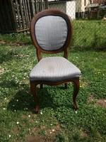 Neobarokk szék keményfa vázas  antik szék  -közel az M0-áshoz bármikor elvihető!