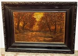 Szepesi Kuszka Jenő (1885-1948) Tájkép c. olajfestménye 80x60cm eredeti GARANCIÁVAL !!!