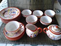 Komplett kínai motívumos teás- és süteményes készlet