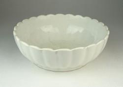 0Q926 Régi vastag falú porcelán leveses tál 17 cm