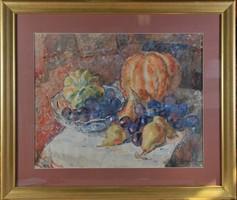 """Ismeretlen festő, """"Eichenberger"""" jelz: Gyümölcscsendélet,"""
