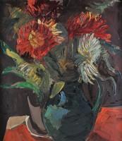 Bényi László (1909-2004): Virágcsendélet, Dáliák