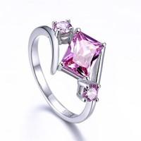 Halvány rózsaszín köves gyűrű 8-as ÚJ!