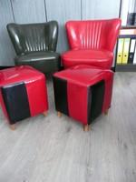 2 db hibátlan állapotú Retro puff /ülőke az 1960-as évekből párban eladó