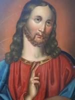 Antik Jézus festmény XIX század