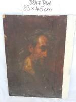 Jelzett, szignózott olaj festmény, Veress Zoltán olajfestmény, portré