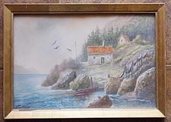 Szvetenay György báró(1896-1952) , festmény eladó
