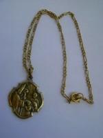 Jelzett lánc, régi antik medál