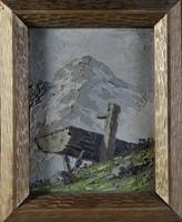 Ismeretlen művész: Alpesi mező itatóval